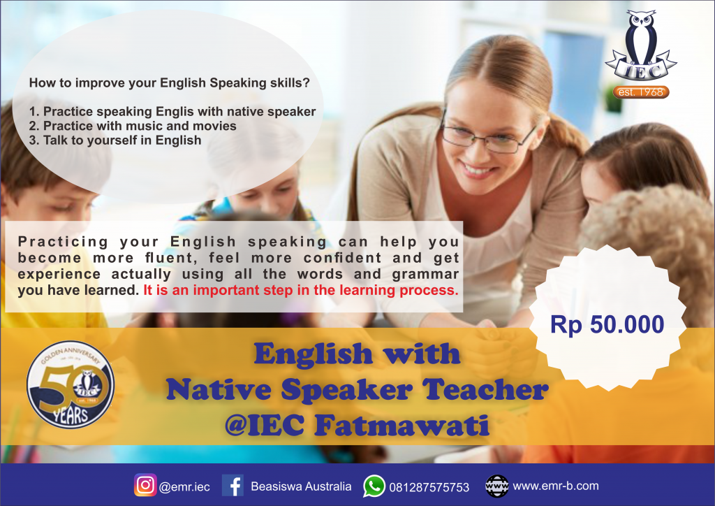 Poster Native English Speaker